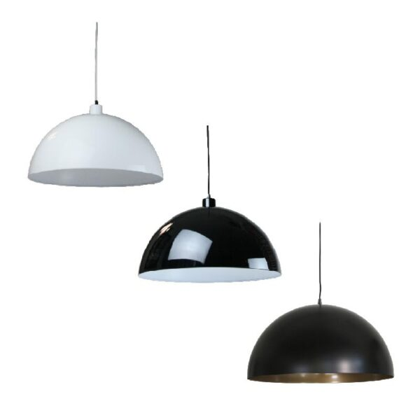 Helios Pendant Light in White, Black and Black Gold - Oz Lights Direct
