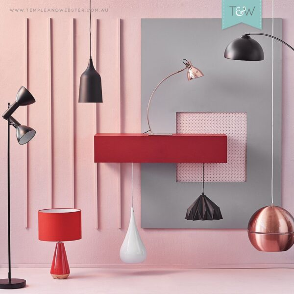 Vibeke Pendant Light | Modern Series in Chrome and Copper - Oz Lights Direct